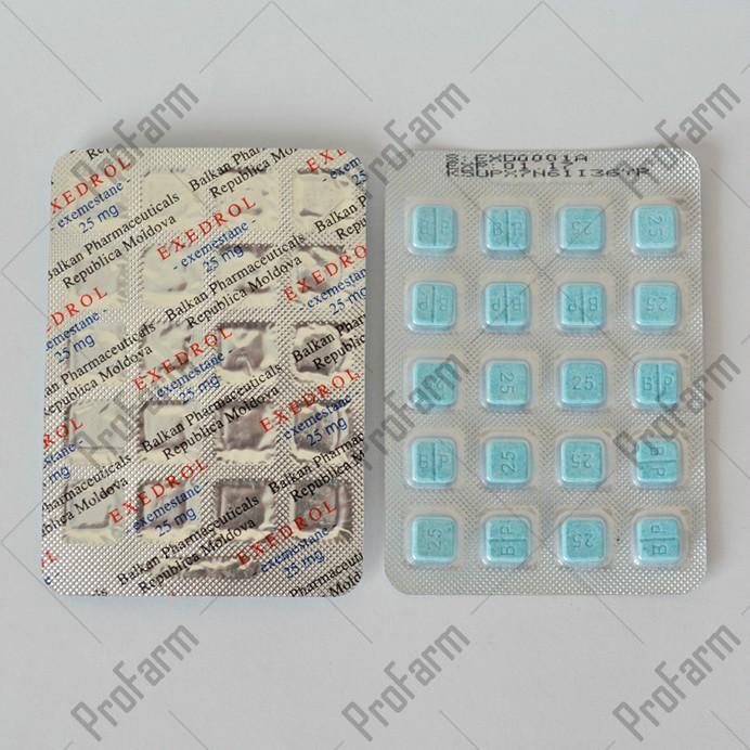 Exedrol 25mg/tab - цена за 20 таблеток.