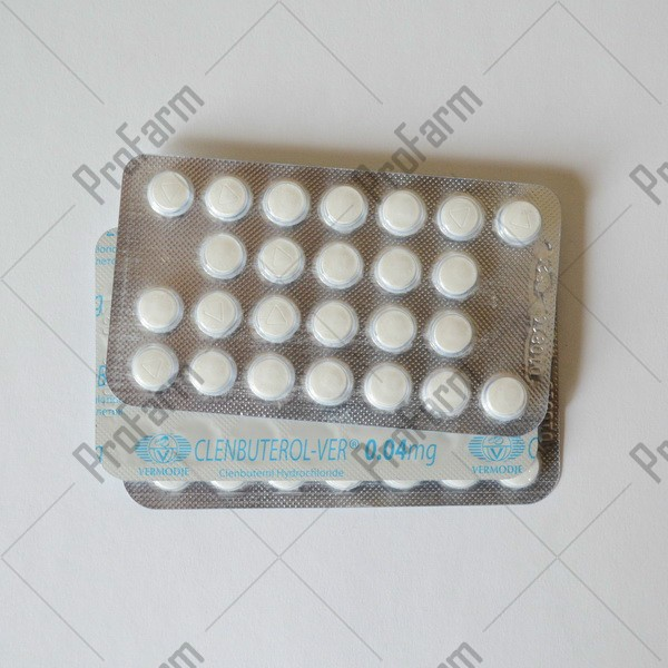 Clenbuterol-ver 40мкг\таб - цена за 100таб.