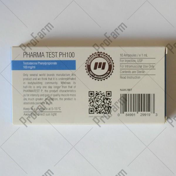 PHARMA TEST PH100, 100mg/ml - ЦЕНА ЗА 1 АМПУЛУ