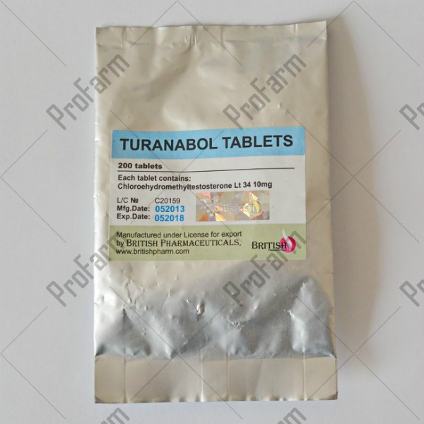 Turanabol Tablets, 10mg/tab, цена за 200таб